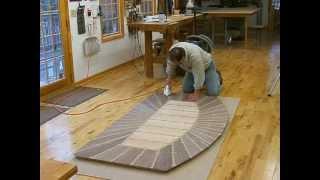 Making A Veneered Executive Desk Part 4-5, Veneering The Top: Andrew Pitts~furnituremaker