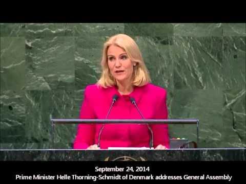 24. september 2014 - Danmarks Statsminister Helle Thorning Schmidts tale ved FN's Generalsamling