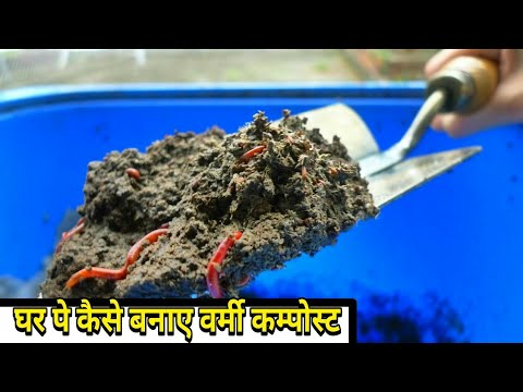 how to make vermicompost at home in hindi/urdu