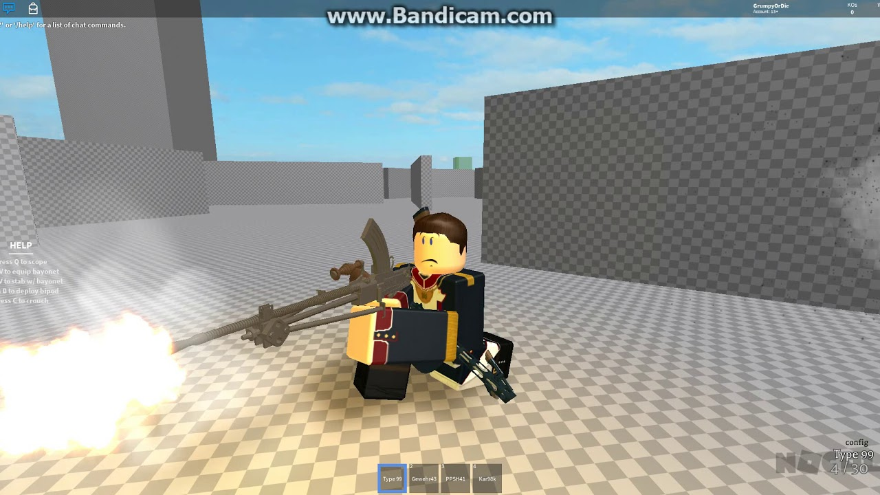 Type 99 Japanese Lmg Roblox By Josh Dank - fe gun kit glock roblox