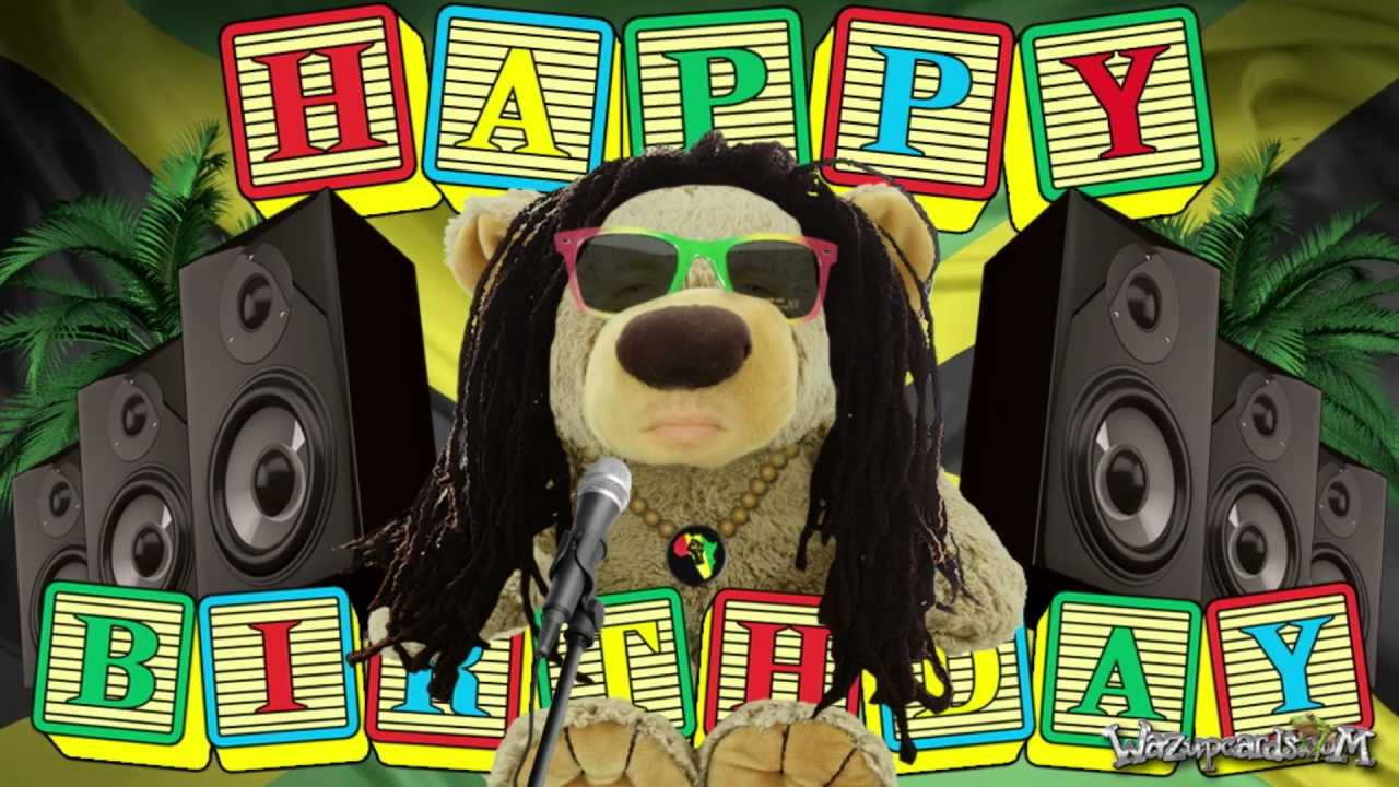 Happy birthday reggae teddy bear youtube bookmarktalkfo Image collections