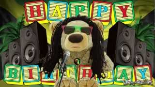 HAPPY BIRTHDAY - Reggae Teddy Bear