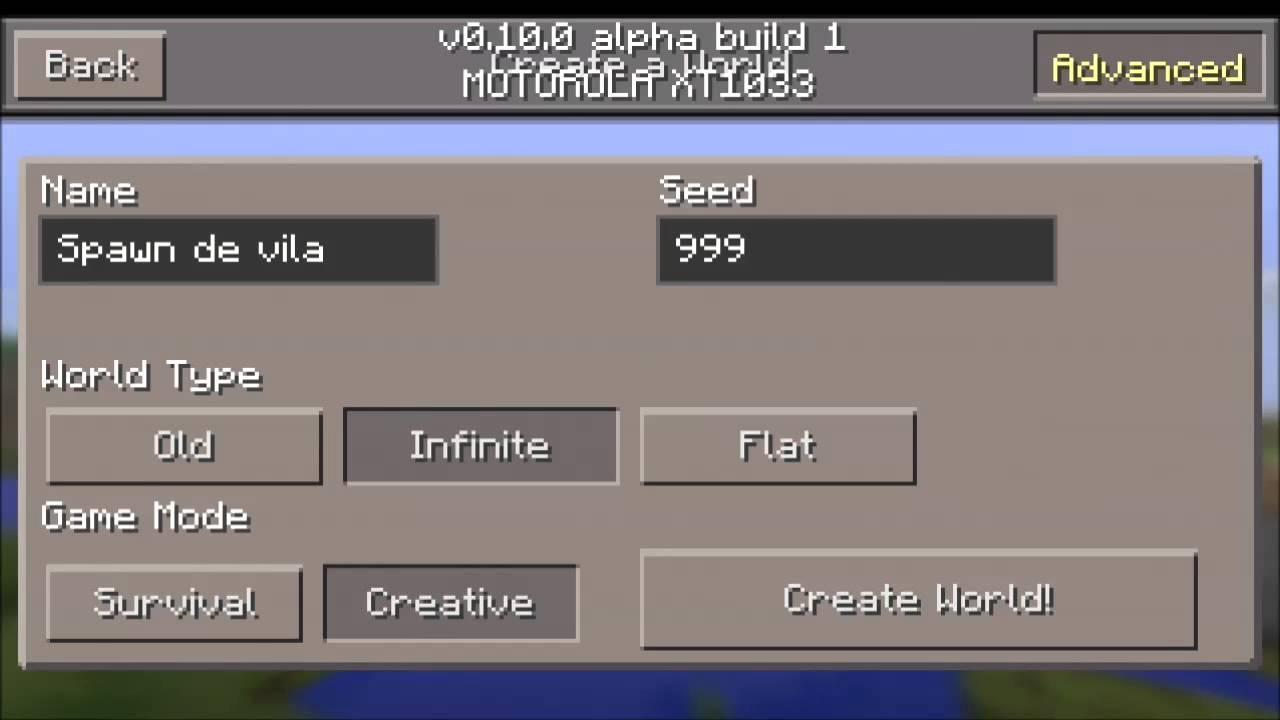Minecraft Pe   0 10 0   - Como Spawnar Na Vila   Seed