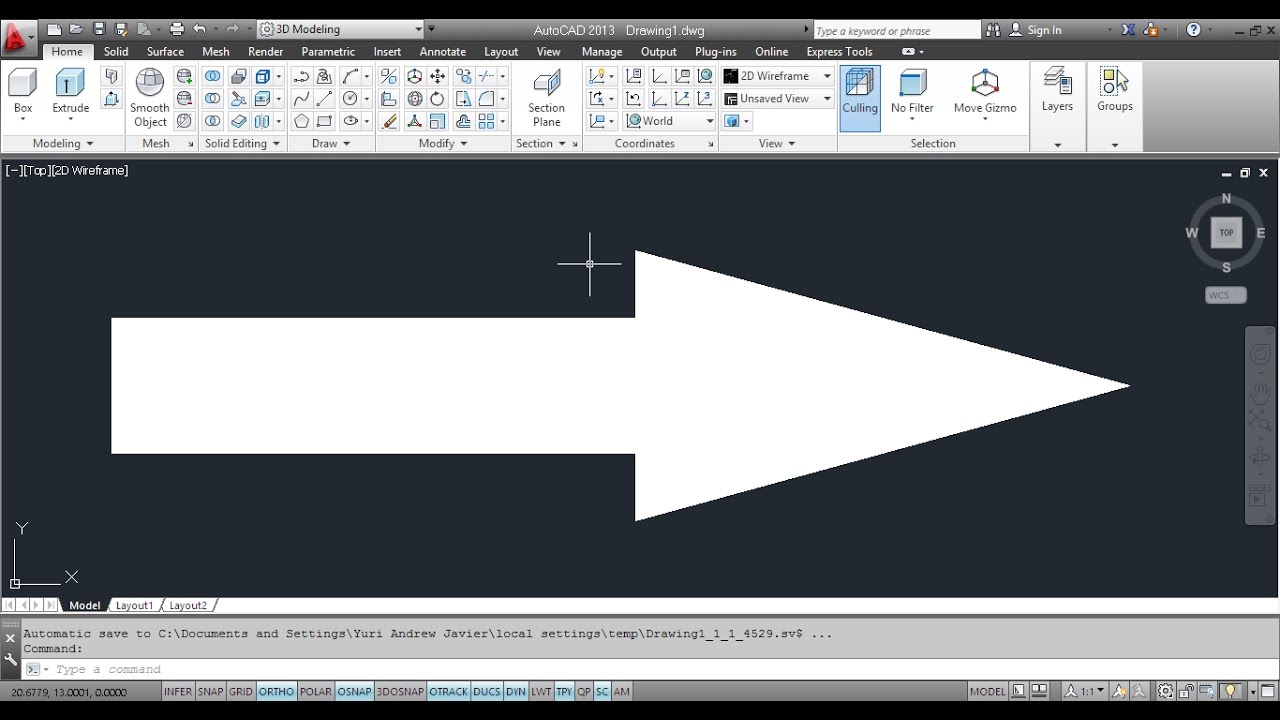 How To Draw An Arrow In AutoCAD