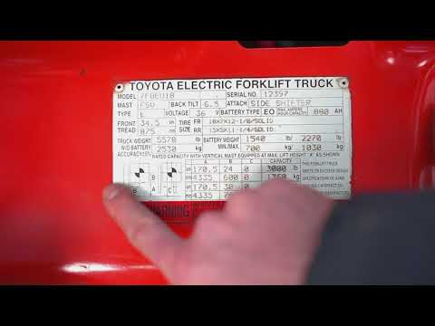 Data Plate Or Data Tags On A Forklift, How It Works