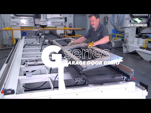 Garage Door Machining - With a C.R. Onsrud G-Series CNC Router