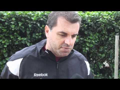 Ange Postecoglou ahead of the Perth Glory clash