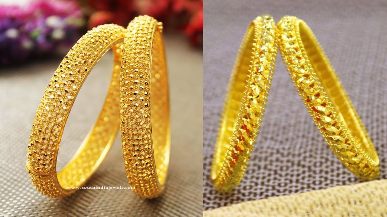 1 gm Gold Bangle Designs | 1 Gram Gold Bangle Model | One ...