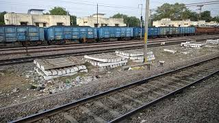 small parallel action with Bhusawal WAG5 freight train with some awesome honking