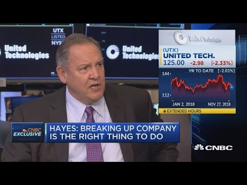 United Technologies CEO: Breaking up company is the right thing to do