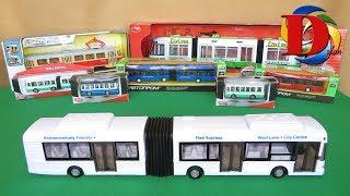 Открываем игрушки машинки. Туристический автобус. Обзор игрушки.