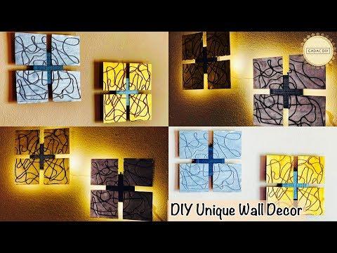 Unique wall hanging ideas| gadac diy| do it yourself wall decor| wall hanging craft ideas| diy craft