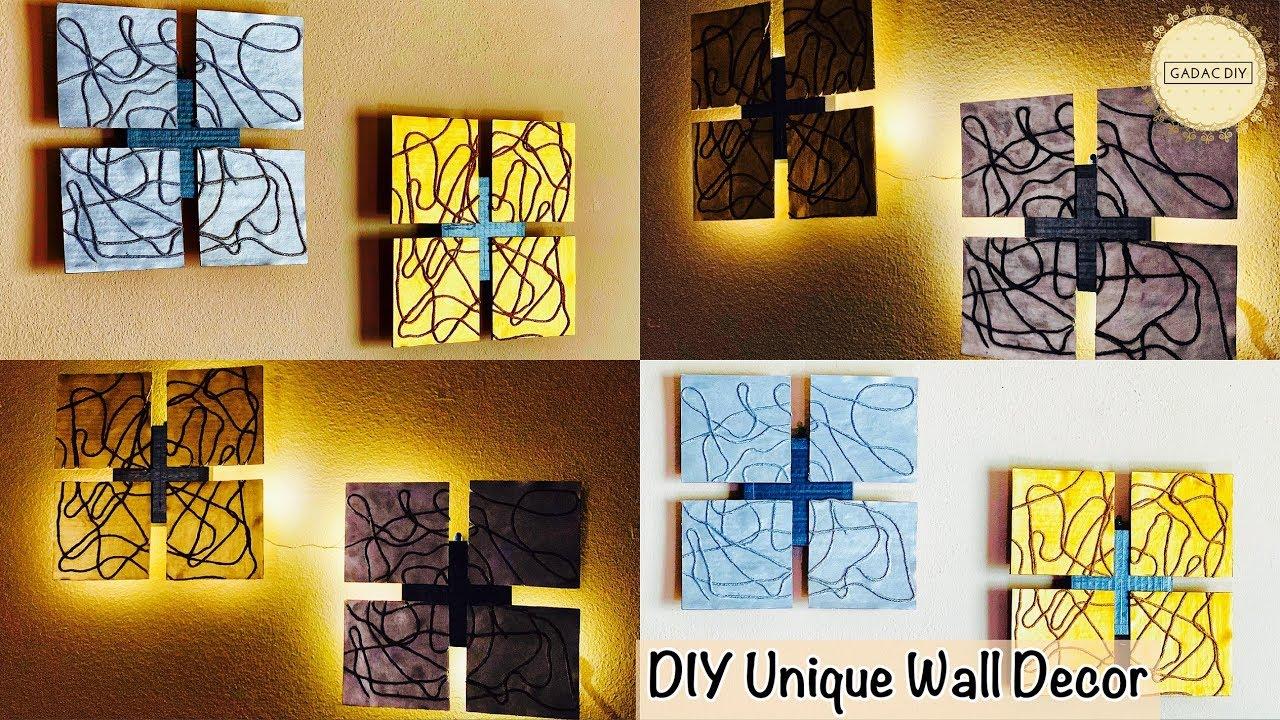 Unique Wall Hanging Ideas Gadac Diy Do It Yourself Wall Decor Wall Hanging Craft Ideas Diy Craft Youtube