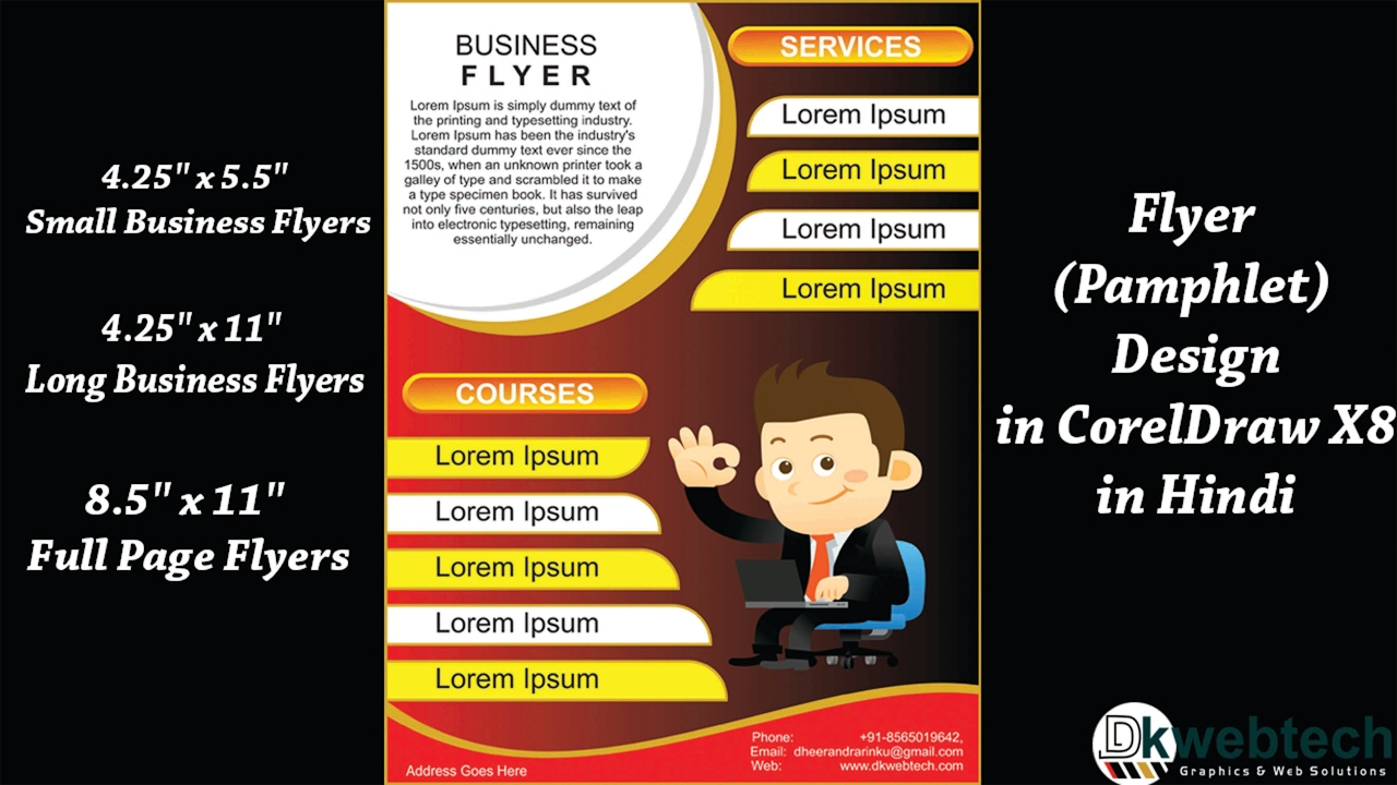 how to design business flyer i pamphlet coreldraw x8 tutorials in