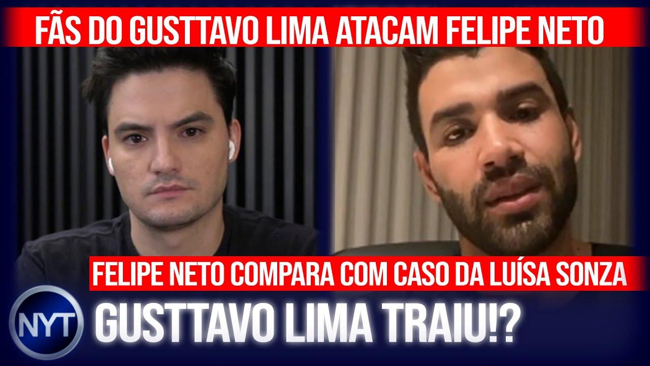 @Felipe Neto é atacado por fãs do Gusttavo Lima após compará-lo ao caso da @Luísa Sonza
