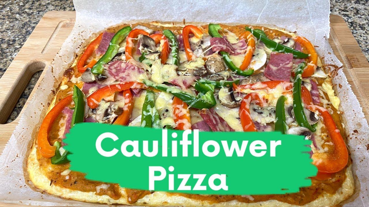 How To Make Cauliflower Pizza | Keto Pizza | Low Carb Pizza | Cauliflower Pizza | Healthy Pizza