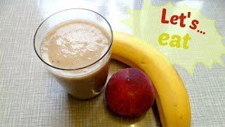 Ramadan Vlog: Banana And Peach Smoothie (or Is It Milkshake? -_-)