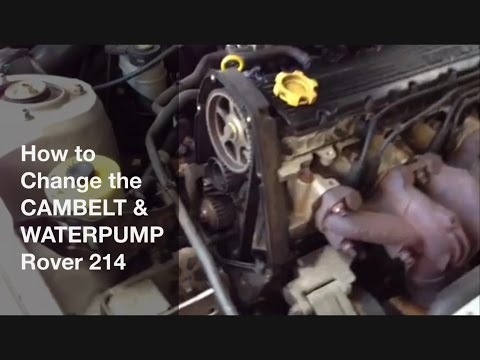 How to change the cambelt and water pump - Rover 214 8v