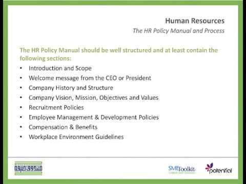 HR Policy Manual