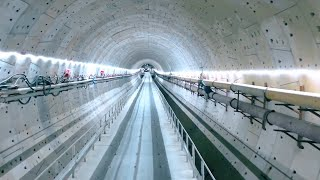 New under-sea tunnel under construction in Shantou, China