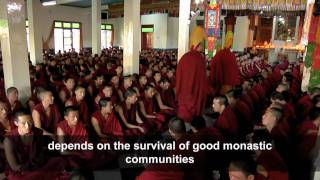 Tibet Foundation - Call Of The Snow Lion Film #3 - Gelugpa Buddhist monks, Drepung monastery