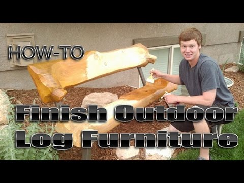 How To Finish Outdoor Log Furniture By Mitchell Dillman Part 65
