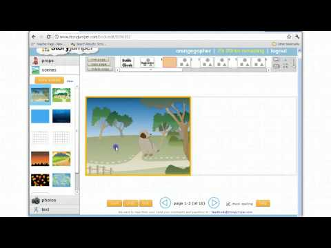 Story Jumper: Creating a story book