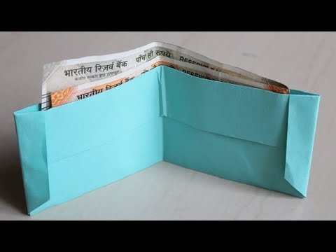 DIY -  How to make a paper wallet | Origami wallet | Easy Paper Purse origami
