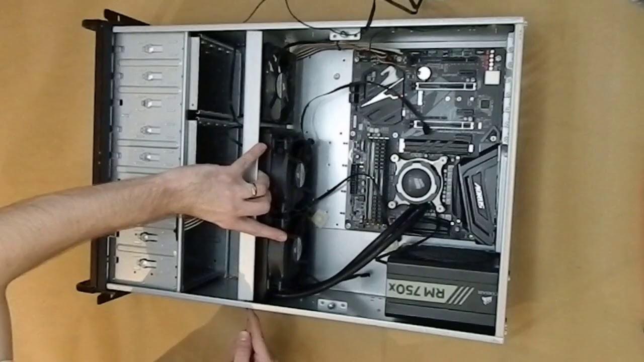 building 4u rack mounted pc