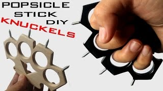 How To Make KNUCKLES Out of Popsicle Sticks and Screws