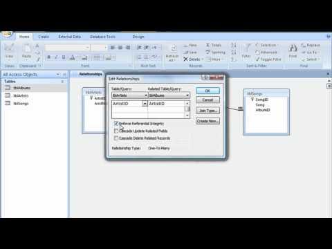Microsoft Access Cascade Update