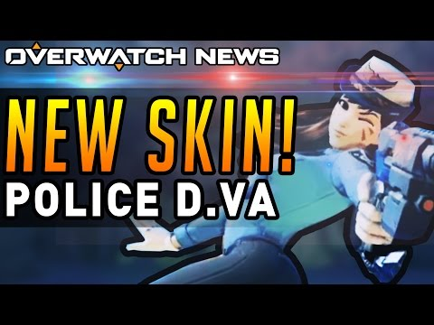 Overwatch - NEW SKIN! Officer D.Va! (New Legendary Police Officer Skin)