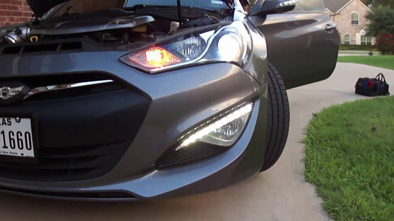 medium resolution of led drl always on with diode mod 2013 genesis coupe