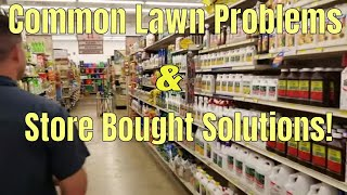 DIY How To fix common lawn problems with store bought solutions. 5 common lawn problems & solutions