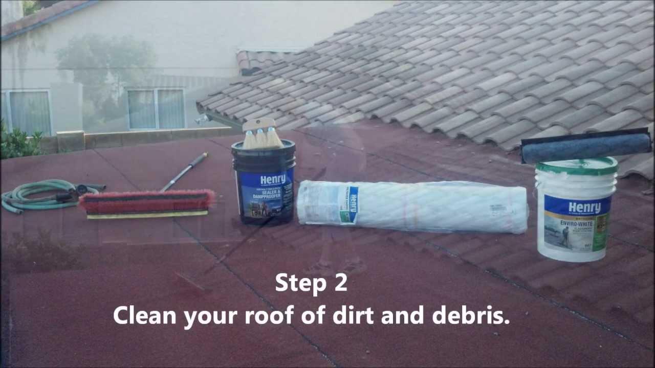 How To Apply White Roof Coating Using Henry Enviro White