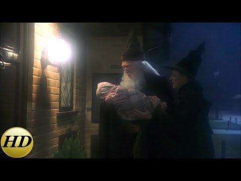 Дамблдор подкидывает Гарри под дверь. Гарри Поттер и философский камень.