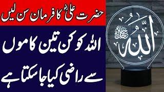 Hum Allah Ko Kaise Razi Kar Sakte Hain | Hazrat Ali (R.A) Ka Farman | SpeakOut