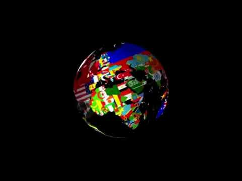 Globe With Countries - Flag, Currency (to Enya music box Orinoco Flow) loopable