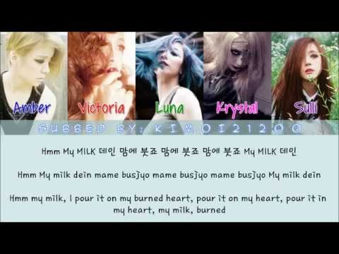 f(x) - Milk [Hangul/Romanization/English] Color & Picture Coded HD