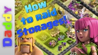 Clash Of Clans | How to raid storages with BArch