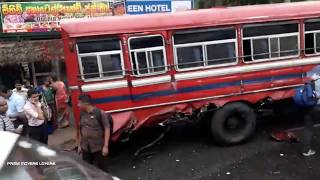 truck and bus accident in galewela 2018/12/08