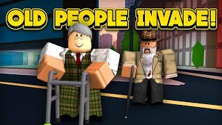 OLD PEOPLE INVADE JAILBREAK! (ROBLOX Jailbreak)