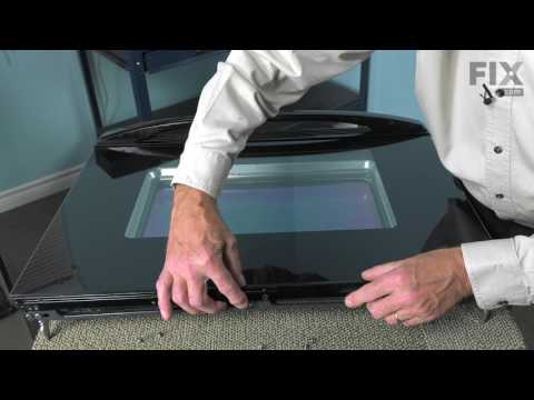 Whirlpool Range/Oven Repair - How to Replace the Exterior Door Glass