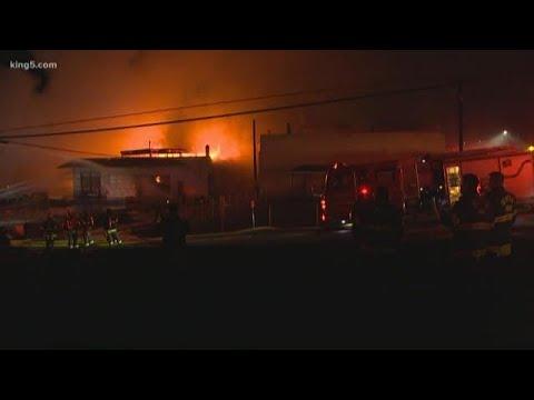 RAW: Seattle warehouse fire
