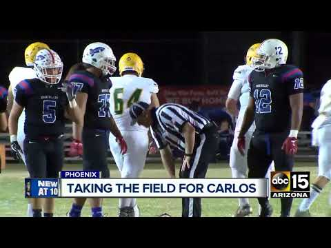 Moon Valley High School takes football field after losing player just a week ago