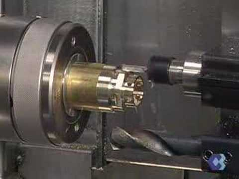 Gtv 42 Cnc Gang Tool Lathe Live Tool Drilling And C Axis Milling A Hex You