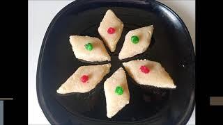 Rava Milk Burfi | Sooji Milk Burfi | Quick and Easy Sooji Sweet Recipe | Indian Sweet Recipe