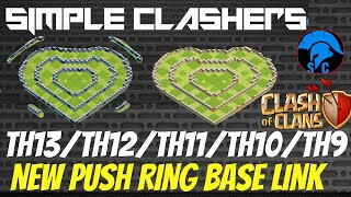 *New*Th13/Th12/Th11/Th10/Th9  Ring Push/Troll Base 2020 Feb14th Special Heart base #ClashofClans