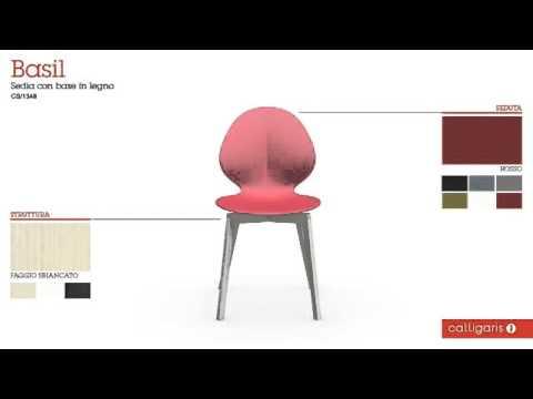 Sedia Basil modello CS 1348 | Calligaris - YouTube