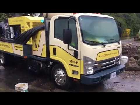 A J 's Concrete Pumping Putzmeister TK60HP high-pressure truck mounted  shotcrete pump